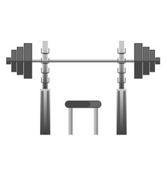 Gym or fitness sport club chest press machine vector