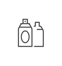 Hairspray can line outline icon vector