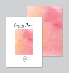 hand painted art of watercolor paint on watercolor vector image