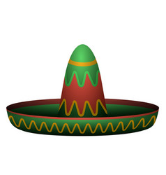 Isolated mexican hat vector