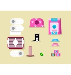 Kitten and accessories vector image
