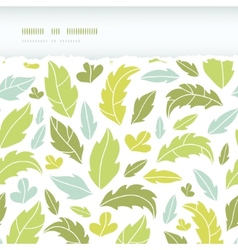 Leaves silhouettes horizontal torn seamless vector