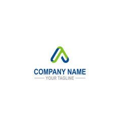 letter a symbol company logo vector image