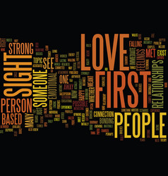 Love at first sight is it possible text vector