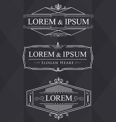 luxury flourishes calligraphic elegant ornament vector image