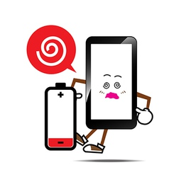 Mobile phone Smart phone vector image