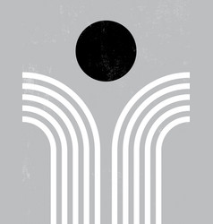 Modern poster art for print abstract wall art vector