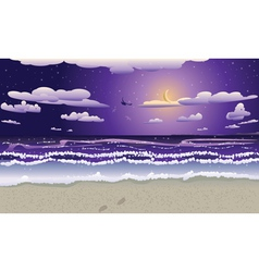 Night beach2 vector image vector image