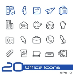 Office Business Outline Series vector image vector image