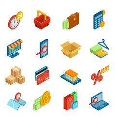 online shopping icon e-commerce technology vector image