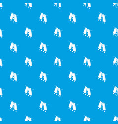 Pants drying pattern seamless blue vector
