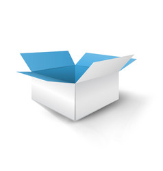paper blue box with shadow vector image