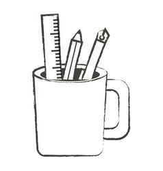 Pencil cup holder icon vector