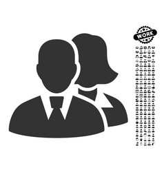 People icon with professional bonus vector