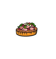 Pop art style mexican dish sticker vector