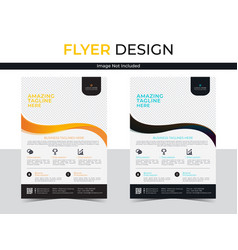Professional corporate business flyer vector
