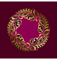 Purpur flower Art Nouveau style vector