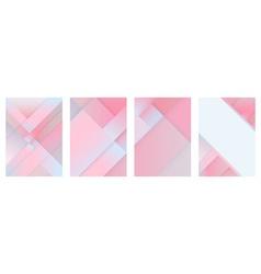 red polygon brochure set vector image