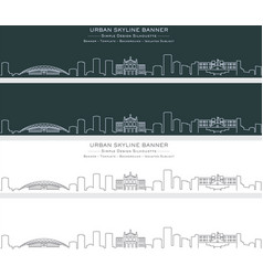 San jose costa rica single line skyline banner vector
