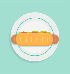 sandwich on plate vector image