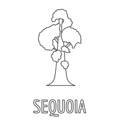 Sequoia icon outline style vector