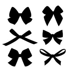 set vintage bows vector image