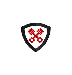 shield automotive logo icon design vector image