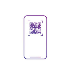 Smart phone scanning qr code icon barcode scan vector