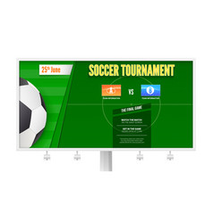 soccer or european football tournament vector image
