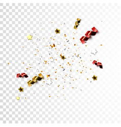 sparkling tinsel for holiday design vector image