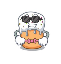 super cool easter cake character cartoon vector image