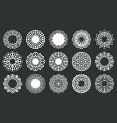 vintage lace doily round lace napkins ornate vector image