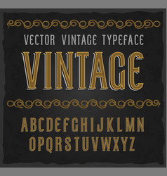 vintage typeface font vector image