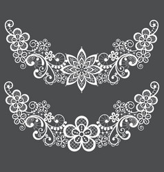 vitnahe lace half wreath single pattern set vector image