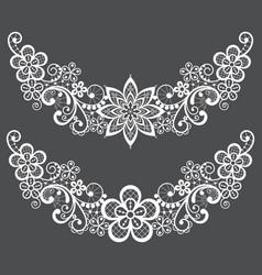Vitnahe lace half wreath single pattern set vector