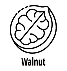 Walnut icon outline style vector