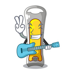With guitar stainless steel nail cutter on cartoon vector