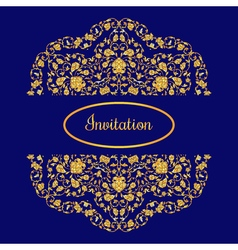 With vintage gold round ornament and place for vector