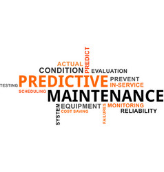 Word cloud - predictive maintenance vector