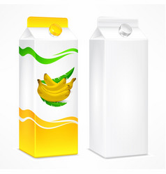 banana juice package vector image vector image