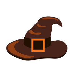 closeup of icon of witch hat vector image