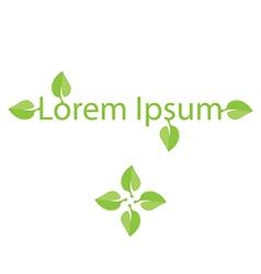 Green leaf eco logo vector