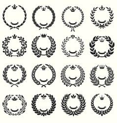 laurel wreathes set vector image