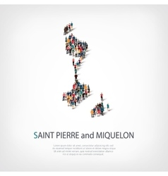 people map country Saint Pierre vector image vector image