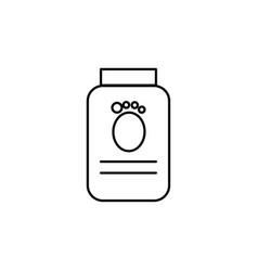 pets food jar linear icon vector image