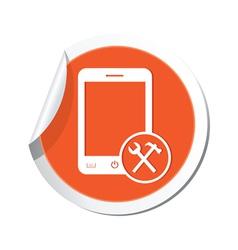phone tools icon orange sticker vector image vector image