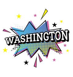 washington usa comic text in pop art style vector image vector image