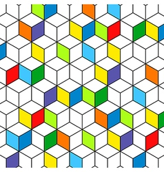Colorful box background mesh vector image vector image