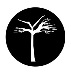 tree dry isolated icon vector image