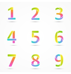 Logo numbers 1 2 3 4 5 6 7 8 9 company design vector image